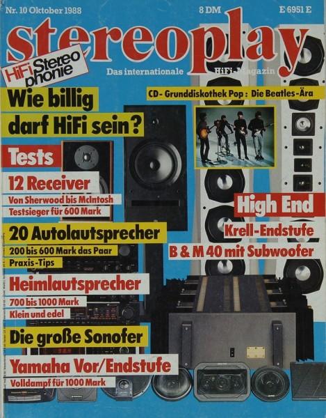 Stereoplay 10/1988 Zeitschrift