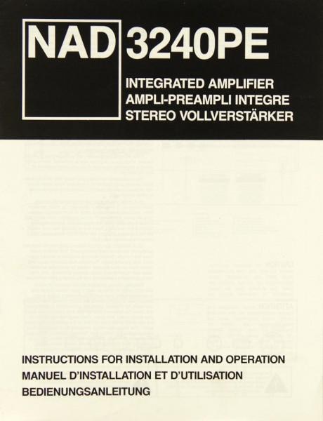 NAD 3240 PE Bedienungsanleitung