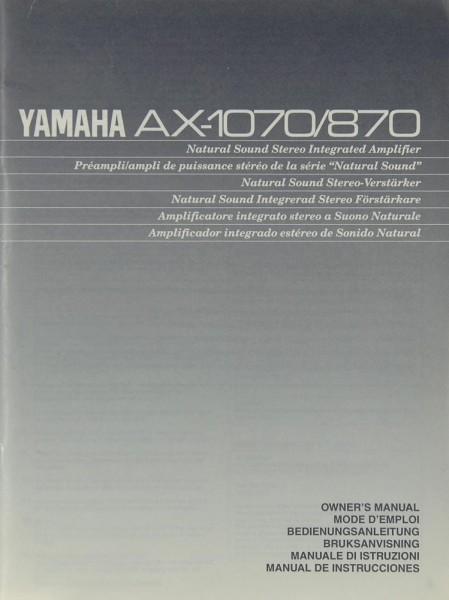 Yamaha AX-1070 / 870 Bedienungsanleitung