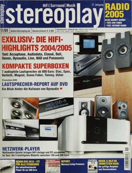 Stereoplay 11/2004 Zeitschrift