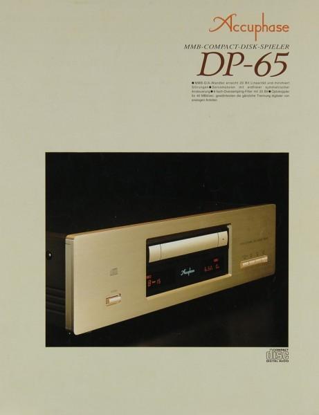 Accuphase DP-65 Prospekte + Kataloge