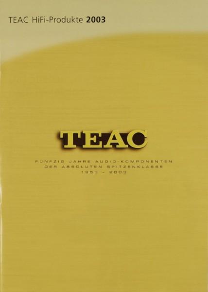 Teac Teac HiFi-Produkte 2003 Prospekt / Katalog