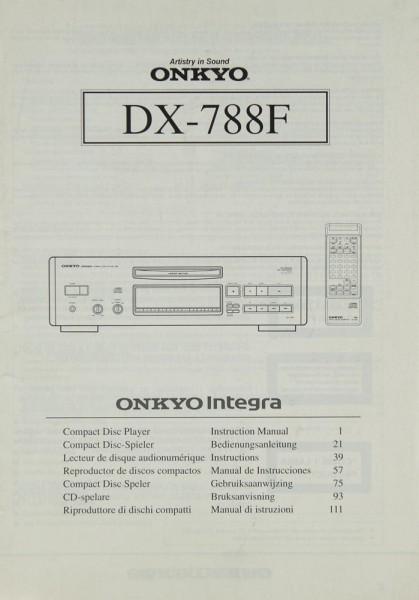 Onkyo DX-788 F Bedienungsanleitung