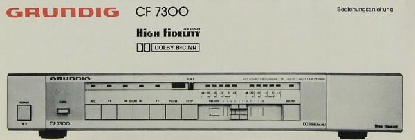 Grundig CF 7300 Bedienungsanleitung