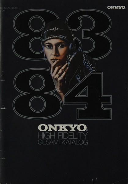 Onkyo High Fidelity Gesamtkatalog Prospekt / Katalog