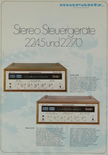 Marantz 2245 / 2270 Prospekt / Katalog