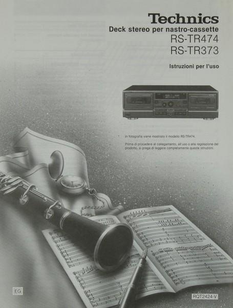 Technics RS-TR 474 / RS-TR 373 Bedienungsanleitung