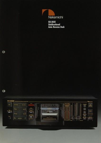 Nakamichi RX-202 E Prospekt / Katalog