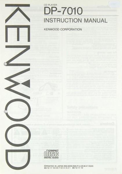 Kenwood DP-7010 Bedienungsanleitung