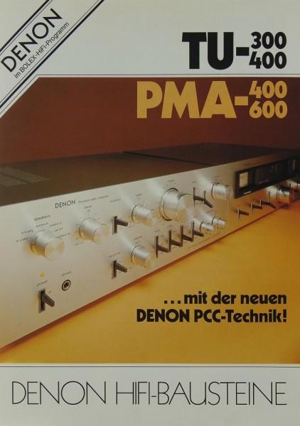 Denon TU-300 / TU-400 / PMA-400 / PMA-600 Prospekt / Katalog