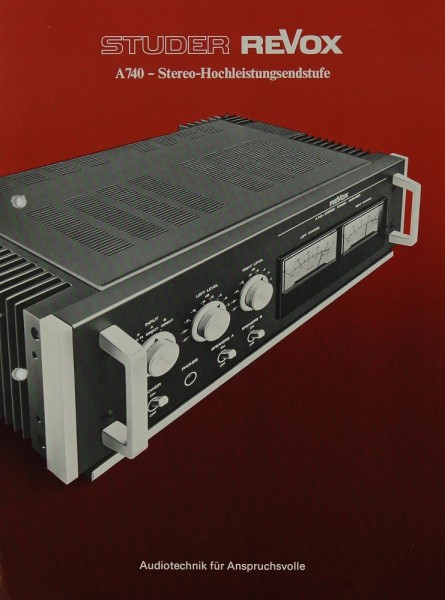 Revox A 740 Prospekt / Katalog