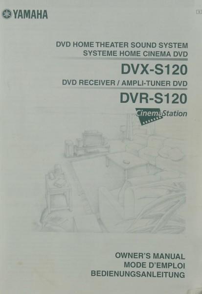 Yamaha DVX-S 120 / DVR-S 120 Bedienungsanleitung
