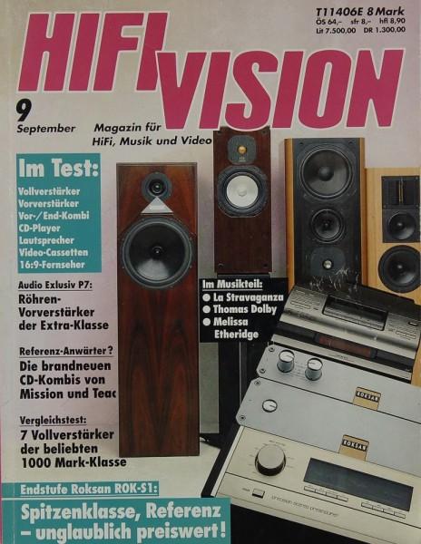 Hifi Vision 9/1992 Zeitschrift