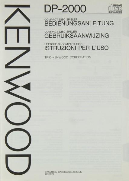 Kenwood DP-2000 Bedienungsanleitung