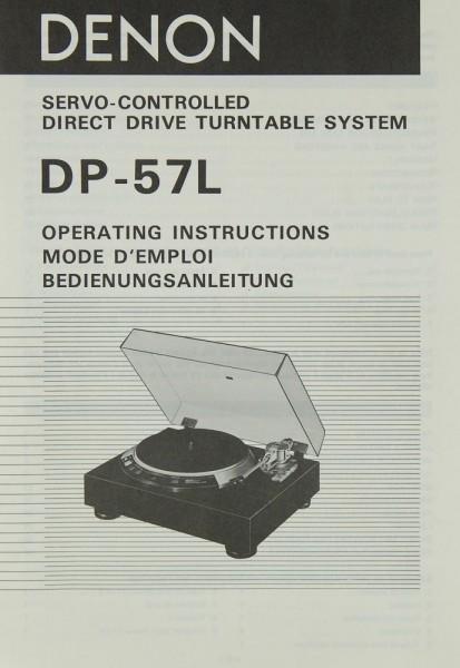 Denon DP-57 L Bedienungsanleitung