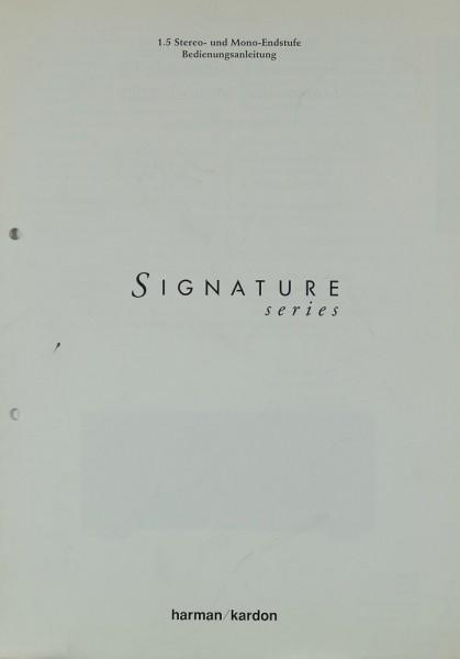 Harman / Kardon Signature Series 1.5 Bedienungsanleitung