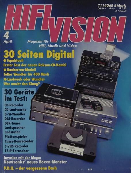 Hifi Vision 4/1992 Zeitschrift