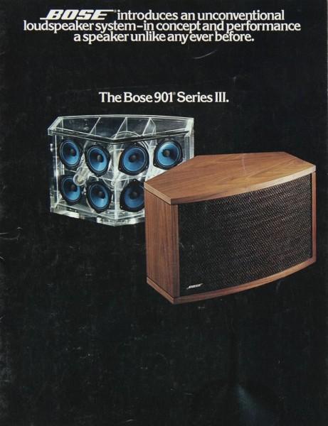 Bose 901 III Prospekt / Katalog