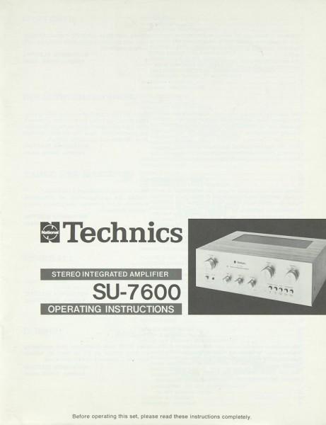 Technics SU-7600 Bedienungsanleitung