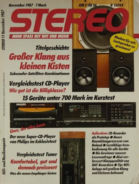 Stereo 11/1987 Zeitschrift