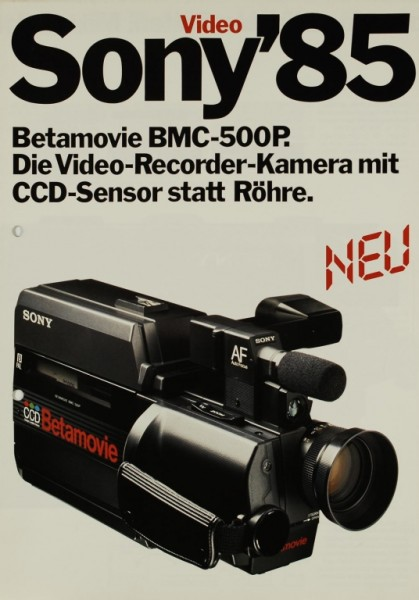 Sony Sony ´85 - Betamovie BMC-500P Prospekt / Katalog