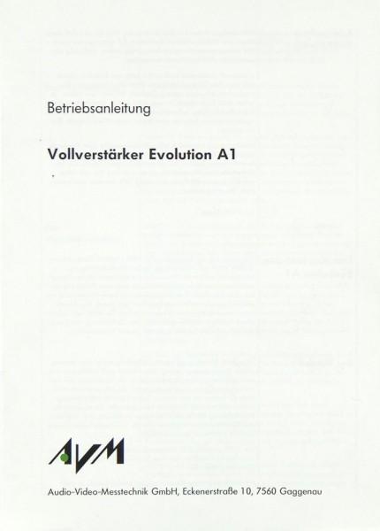 AVM Evolution A1 Bedienungsanleitung