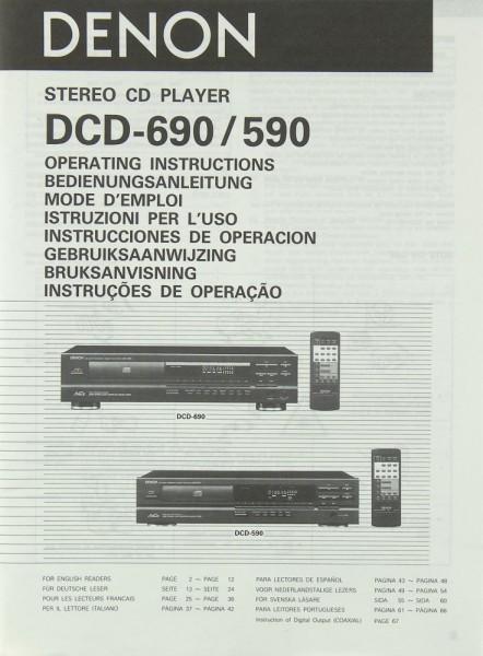 Denon DCD-690 / DCD-590 Bedienungsanleitung