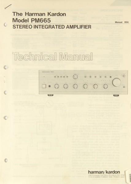 Harman / Kardon PM 665 Schaltplan / Serviceunterlagen