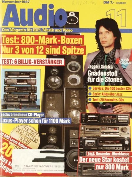 Audio 11/1987 Zeitschrift