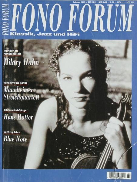 Fono Forum 2/1999 Zeitschrift