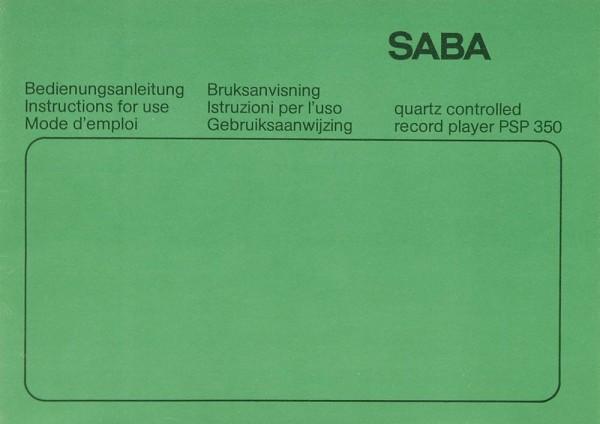 Saba PSP 350 Bedienungsanleitung