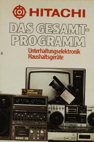 Hitachi Gesamt-Programm: Unterhaltungsel. Haushaltsgeräte Prospekt / Katalog