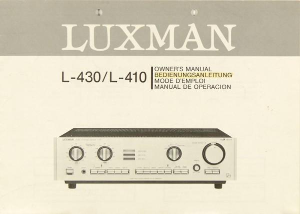 Luxman L-430 / L-410 Bedienungsanleitung