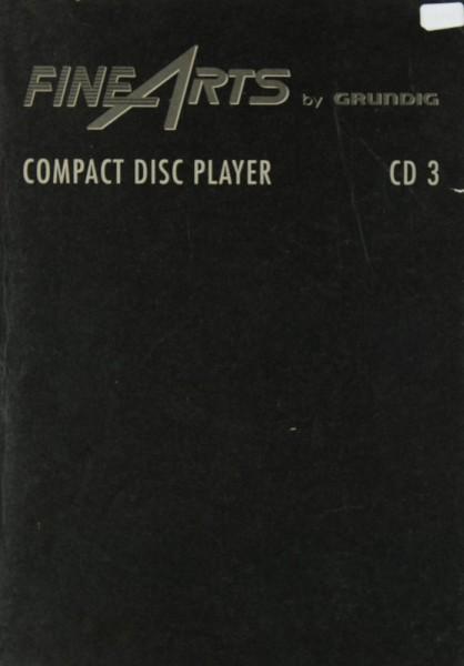 Fine Arts / Grundig CD 3 Bedienungsanleitung