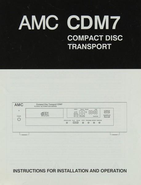 AMC CDM 7 Bedienungsanleitung
