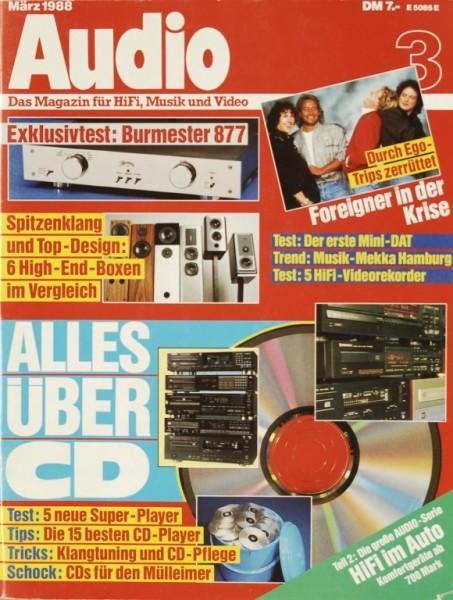 Audio 3/1988 Zeitschrift
