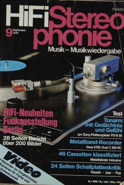 Hifi Stereophonie 9/1979 Zeitschrift