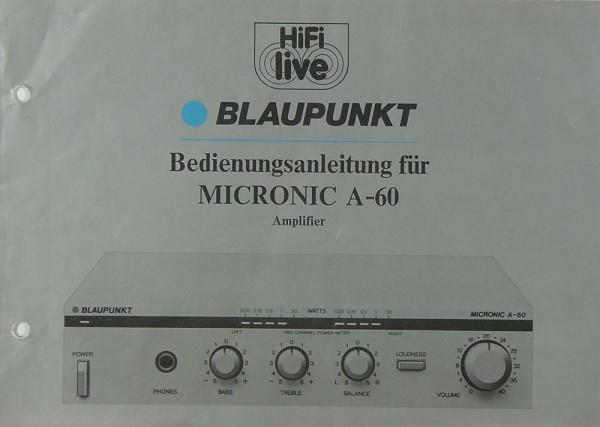 Blaupunkt Micronic A-60 Bedienungsanleitung