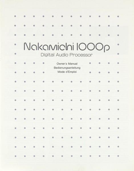 Nakamichi 1000 p Bedienungsanleitung
