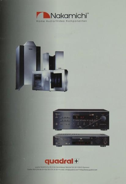 Nakamichi Home Audio / Video Komponenten / Quadral (1999) Prospekt / Katalog