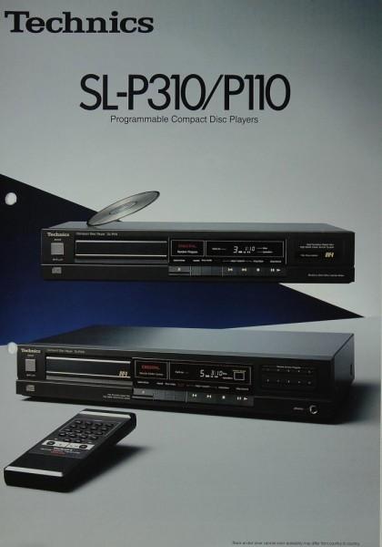 Technics SL-P 210 / P 110 Prospekt / Katalog