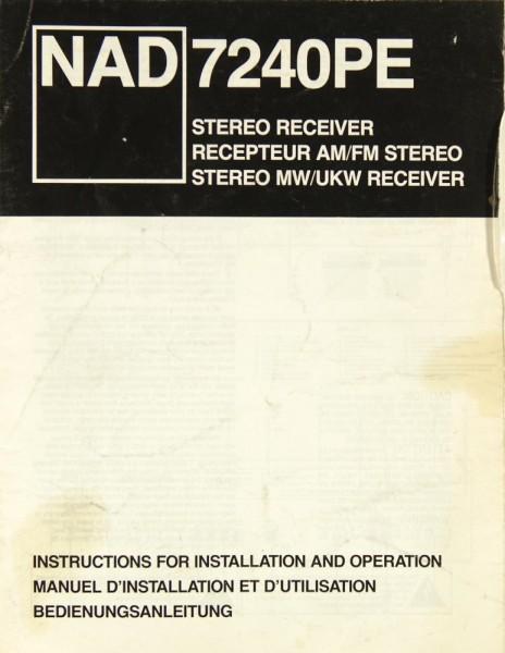 NAD 7240 PE Bedienungsanleitung