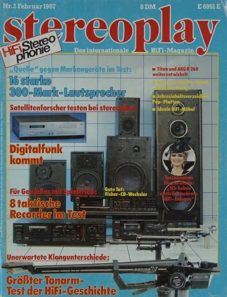 Stereoplay 2/1987 Zeitschrift