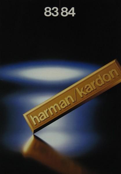 Harman / Kardon 83/84 Prospekt / Katalog