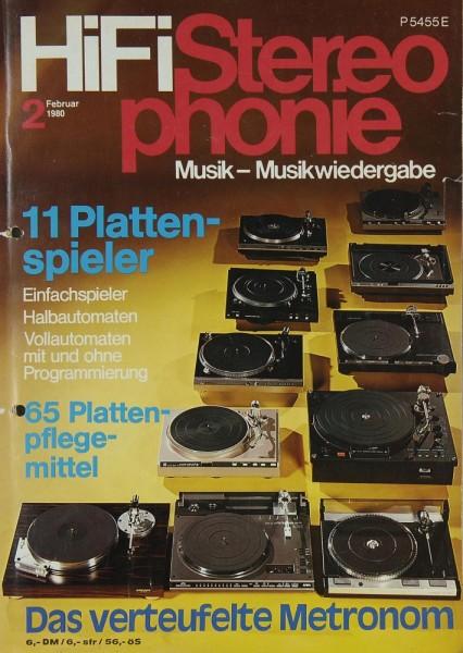 Hifi Stereophonie 2/1980 Zeitschrift
