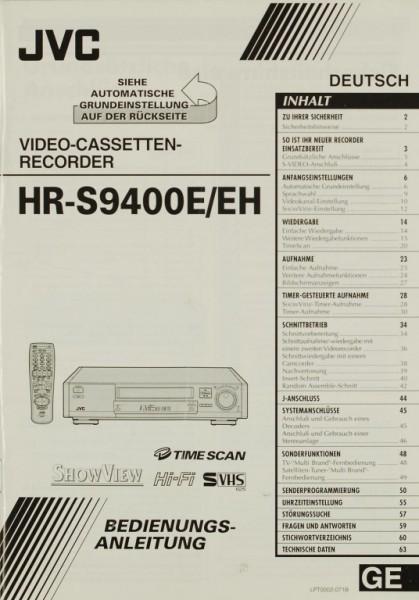 JVC HR-S 9400 E/EH Bedienungsanleitung