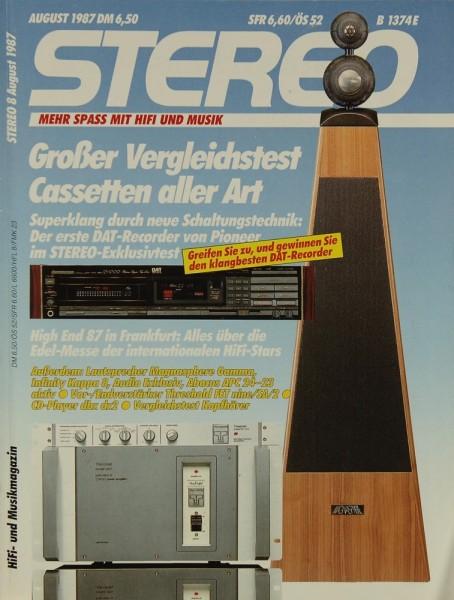 Stereo 8/1987 Zeitschrift