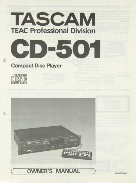 Tascam / Teac CD-501 Bedienungsanleitung
