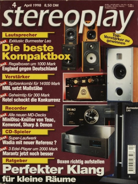 Stereoplay 4/1998 Zeitschrift