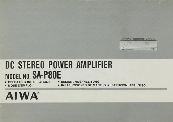 Aiwa SA-P 80 E Bedienungsanleitung